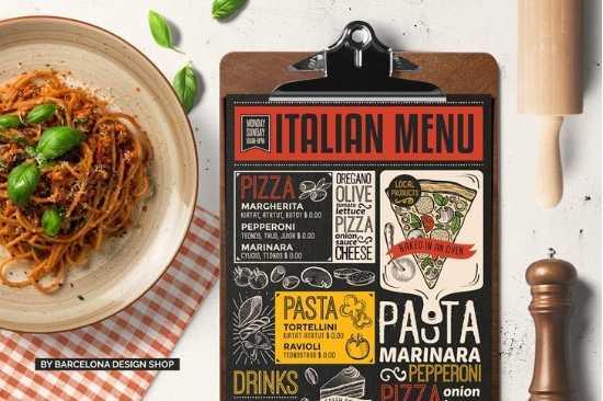 Diseño de Menús de Papel, Reciclado o Negro para Restaurante