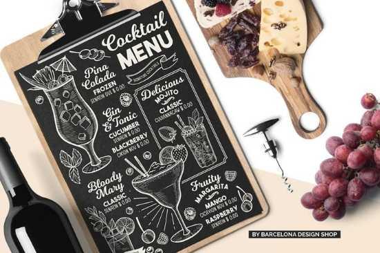 Diseño de Menús de Papel para Snack Bares, Cantinas o Cervecerías