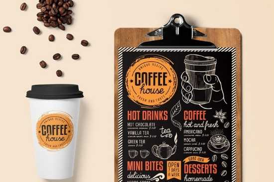 Diseño de Menús de Papel para Cafés o Teterías o Pastelerías