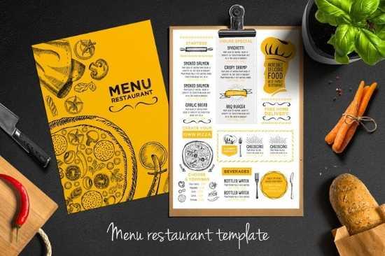 Diseño e Impresión de Menús para Restaurante a dos Colores
