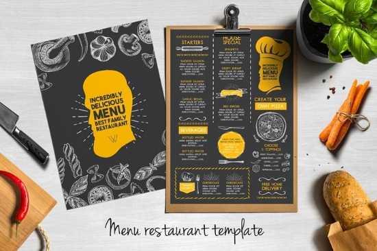 Diseño e Impresión de Menús para Restaurante a dos Colores Carta