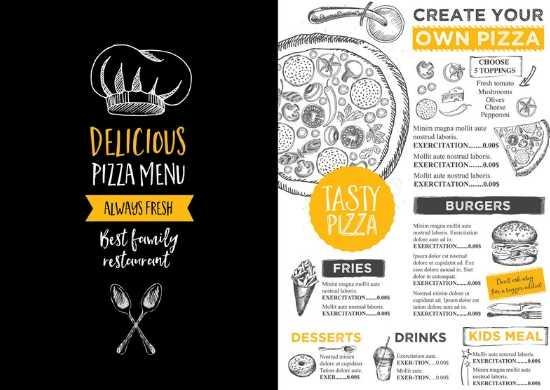 Impresión de menús y cartas personalizadas para Bares y Cantinas