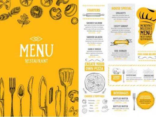 Impresión de menús y cartas personalizadas para Restaurantes