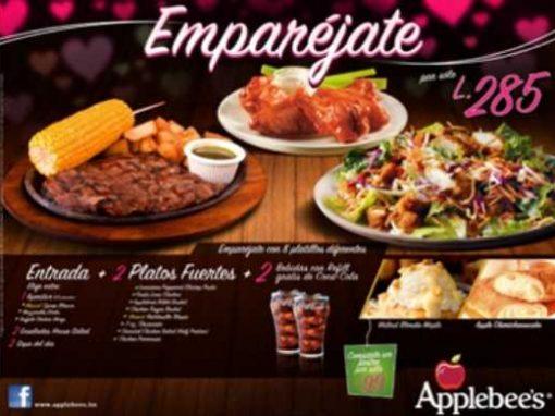 Manteleta Individual con Publicidad Impresa a Color en Papel Couche Tipo Applebees