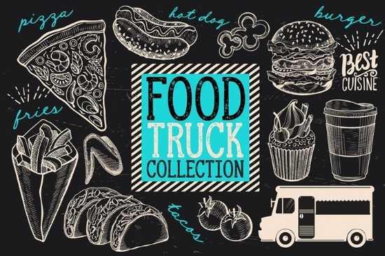 Manteles de Papel Bond impreso a 2 Colores para Mesa de Food Truck