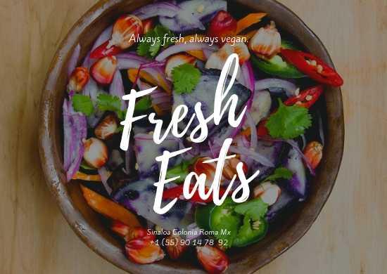 Manteletas Individuales, Impresas a Color en Papel Couche para Vegetarianos