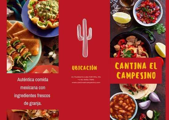 Manteletas Individuales, Impresas a Color en Papel Couche para Taquerías o Burritos